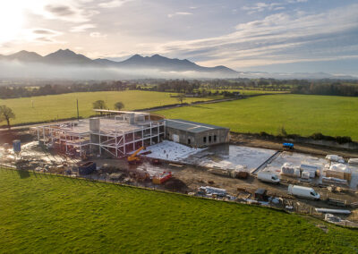 Aerial Photography of Killarney Brewing Company's new Brewery, Distillery & Visitor Centre Construction Project